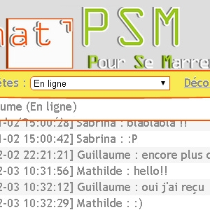 Site web Chat'PSM version mobile