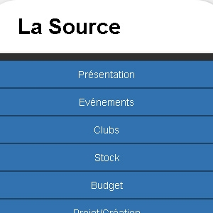 Site web La Source version mobile