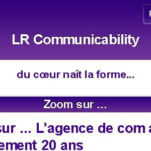Site web LR communicability version mobile