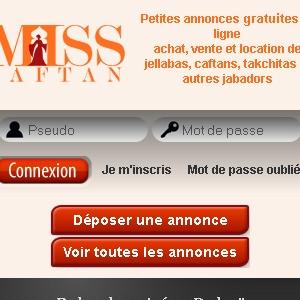 Site web Miss Caftan version mobile