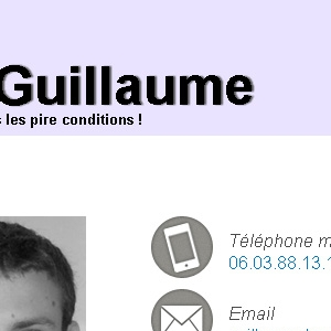 Site web de mon ancien CV version tablette