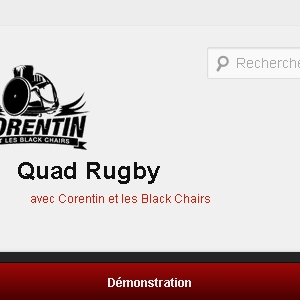 Site web Quad Rugby avec Corentin Le Guen et les Black Chairs version mobile