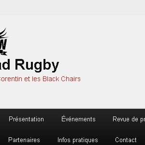 Site web Quad Rugby avec Corentin Le Guen et les Black Chairs version tablette